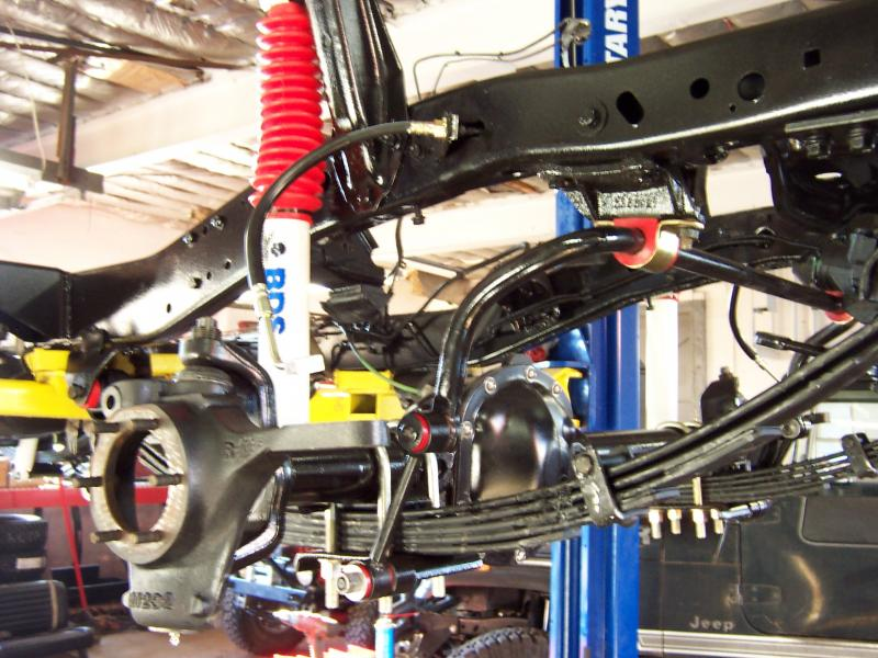 rudy s classic jeeps llc customer builds in process all 3 flexible brake lines and emergency brake lines replaced new ones