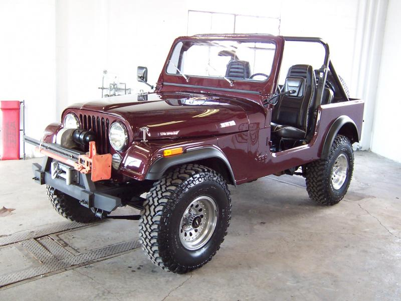 Gorgeous 81 CJ7 in Dark Cherry Metallic