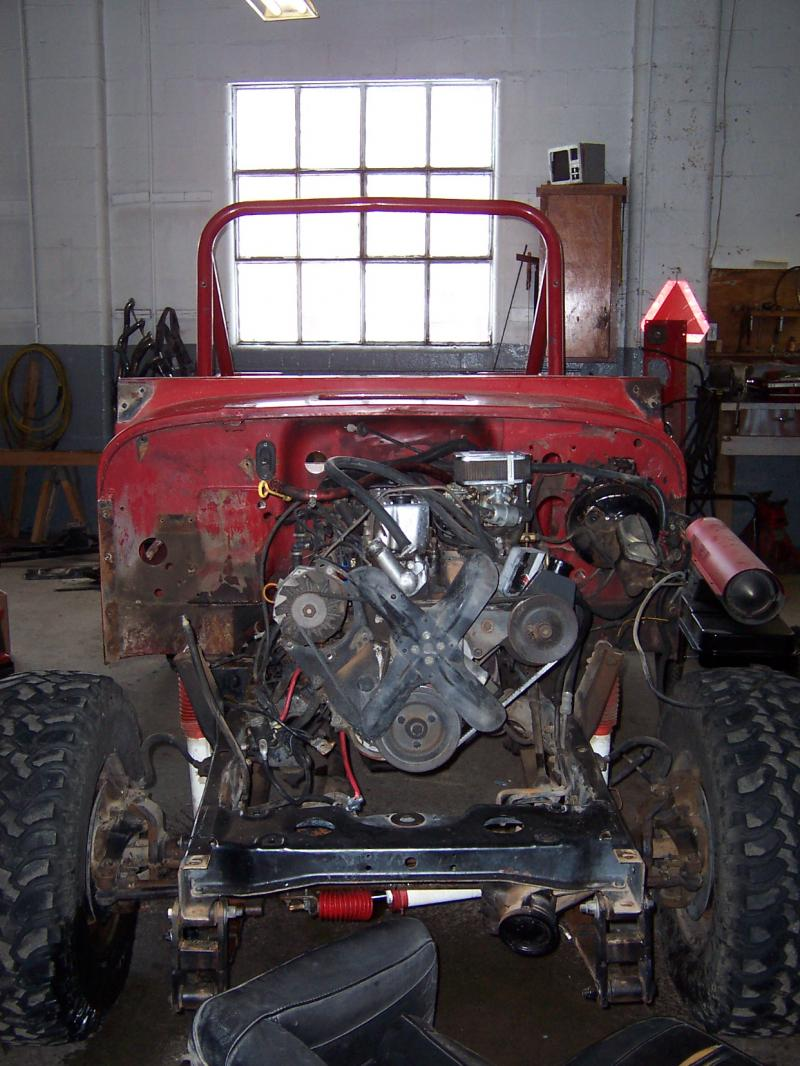 Rudys Classic Jeeps Llc Customer Builds In Process 1985 Jeep Cj Engine Wiring Harness That Isnt Rusty This Took Me About 6 Hours By Myself And Not A Single Bolt Screw Etc Broke Never Even Had To Touch The Torches Heat Anything