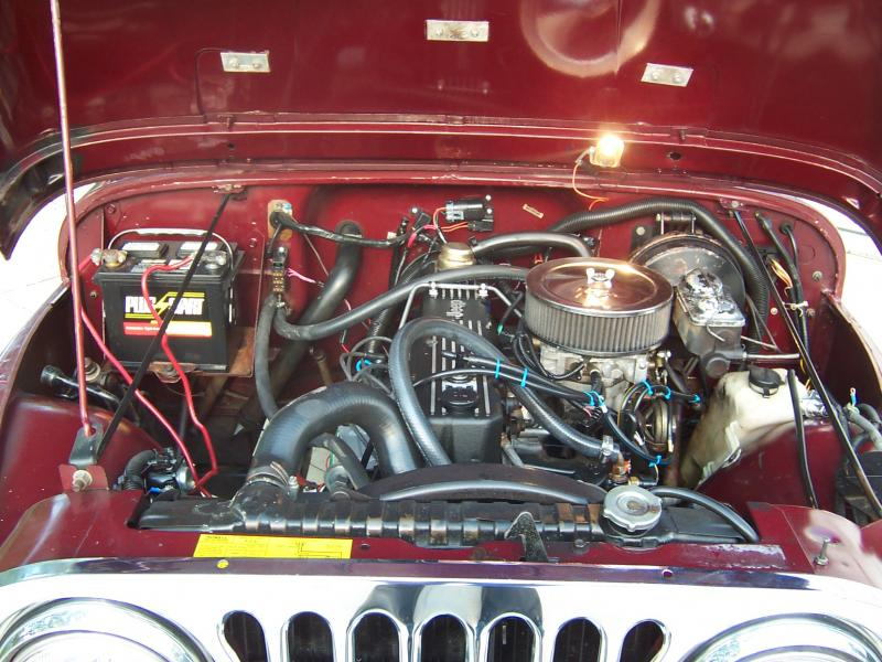 engine wiring for 1986 cj7 rudy's classic jeeps llc - 82 cj7 from ca rebuilt engine ...